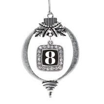 Inspired Silver Number 8 Classic Holiday Decoration Christmas Tree Ornament - $14.69