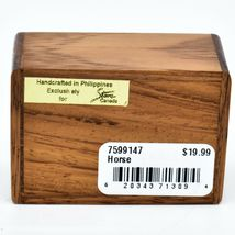 Northwoods Wooden Parquetry Country Western Running Horse Mini Trinket Box image 5