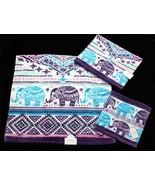 3-Pc BOHEMIAN ELEPHANTS KassaFina Velour Bath Hand Wash Cloth Towel Set NWT - $39.99