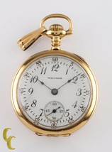 Waltham Grade Ruby 14K Gold Pocket Watch 17 Jewel Size 6/0s - €850,13 EUR