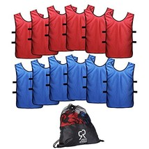 SportsRepublik Pinnies Scrimmage Vests for Kids, Youth and Adults 12-Pack - Socc