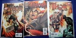 THOR 2007 1-3 (#1 variant cover) Straczynski Coipel Moreles Martin Marvel  - $10.80