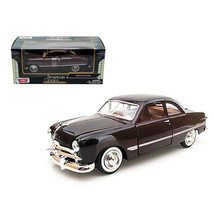 1949 Ford Coupe Burgundy 1/24 Diecast Model Car by Motormax 73213bur - $29.91