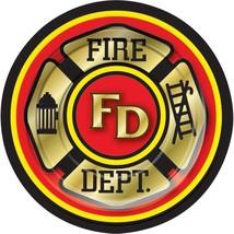 """Forum Novelties Fire Department 7"""" Cake/Dessert Plates (8 ct) - $29.08"""