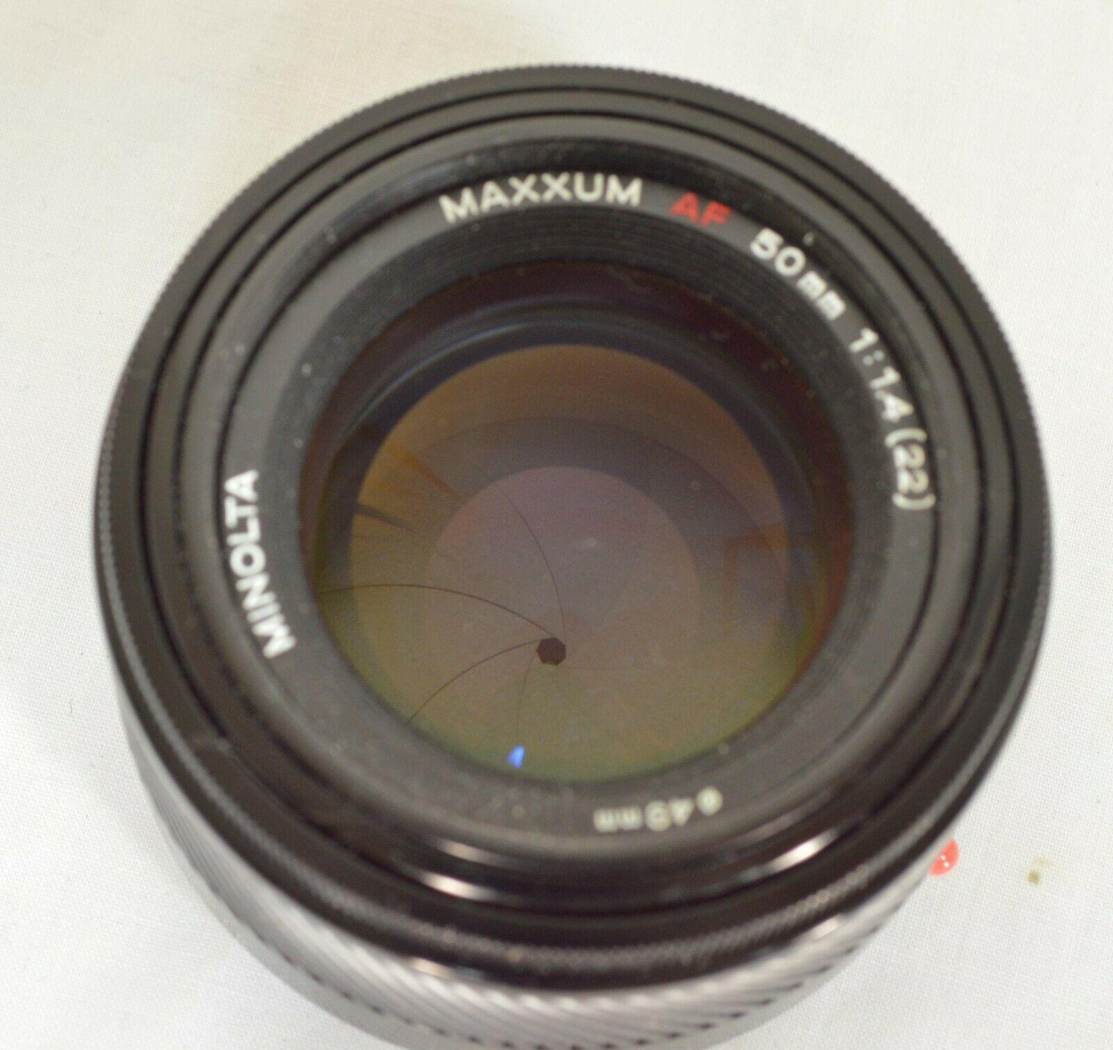 Minolta AF 50mm f/1.4 AF RS camera lens Sony Alpha A-mount image 4