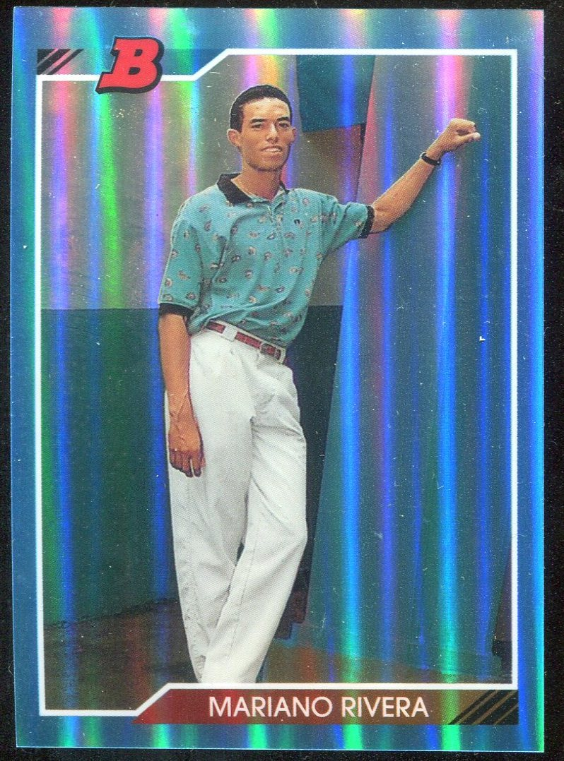 Primary image for 2013 Bowman Insert Blue Sapphire Bowman Reprints Refractor #302  Mariano Rivera