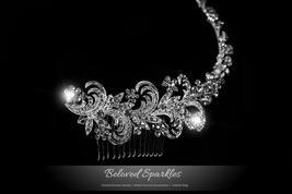 Christi Swirl Cascade Hair Comb | Swarovski Crystal - $86.95