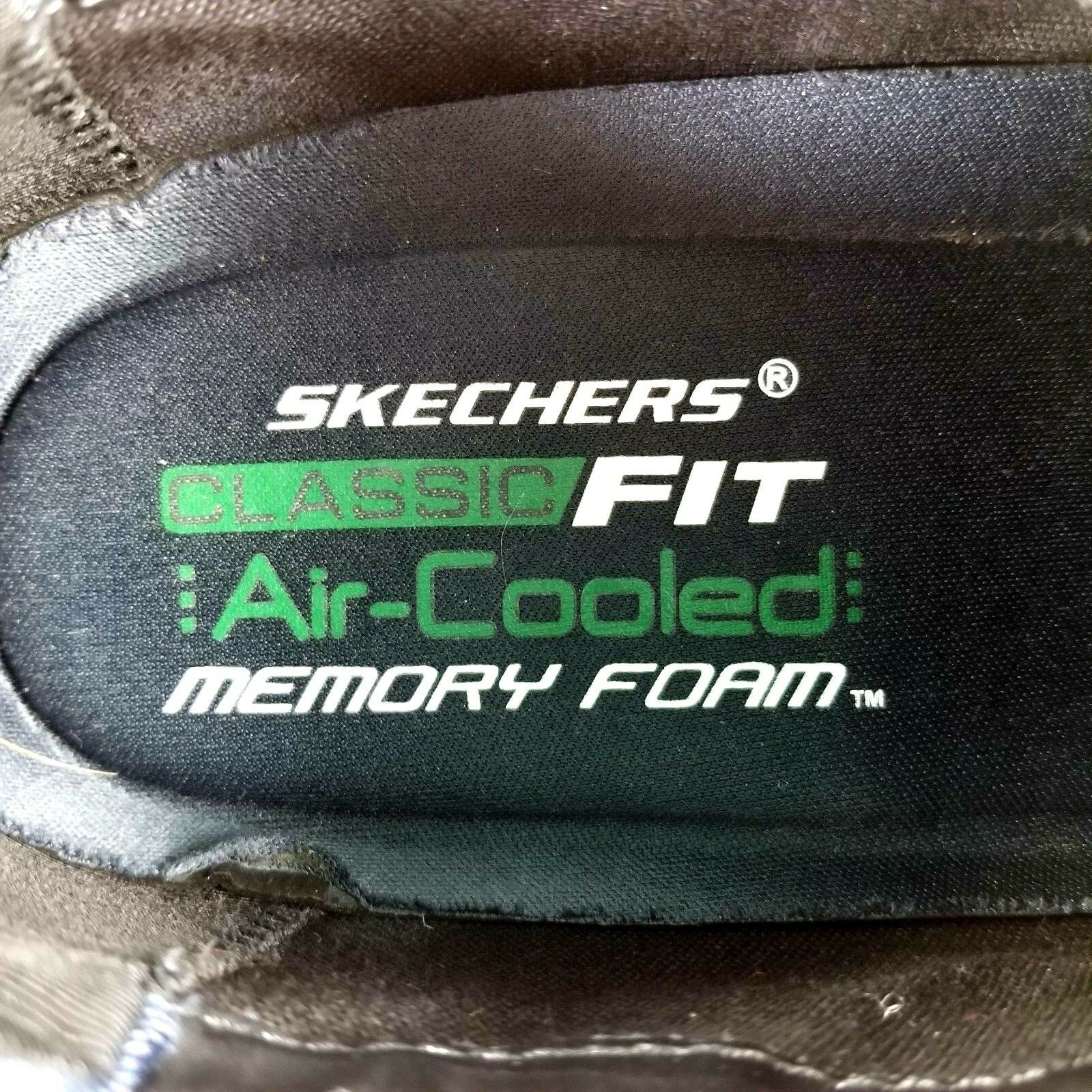 Skechers Mens Shoes Size 13 Classic Fit Oxford Black Lace Up Leather / Synthetic