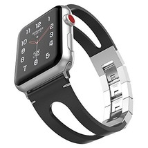 UMTELE Compatible with Apple Watch Band 44mm 42mm, Vintage Top Leather B... - $22.91 CAD