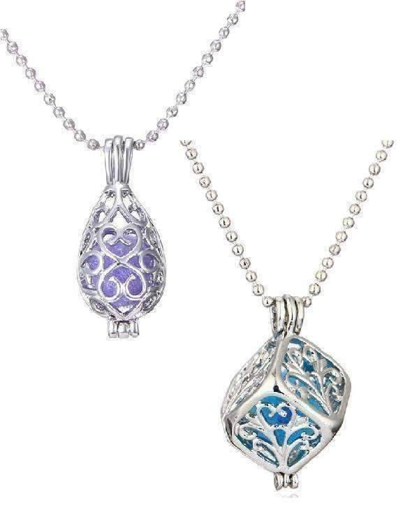 necklaces cube platinum plated filigree aromatherapy scent diffuser locket necklace 12742298563