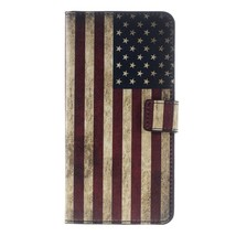 Patterned PU Leather Wallet Stand Cell Phone Case for Huawei Y7 Prime / ... - $5.78