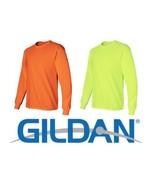 Gildan ANSI Safety Green - Orange Long Sleeve T-Shirt 2400 S-5XL HIGH VI... - $6.47+