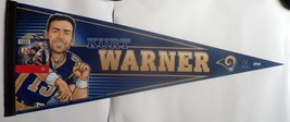 ST LOUIS RAM NFL FOOTBALL PENNANT KURT WARNER NEW OLD STOCK SUPER BOWL C... - $16.04