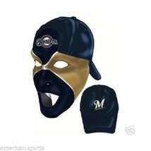 MILWAUKEE BREWERS PARTY MASK HALLOWEEN BASEBALL HAT CAP FUN GREAT 4 PHOT... - $15.94