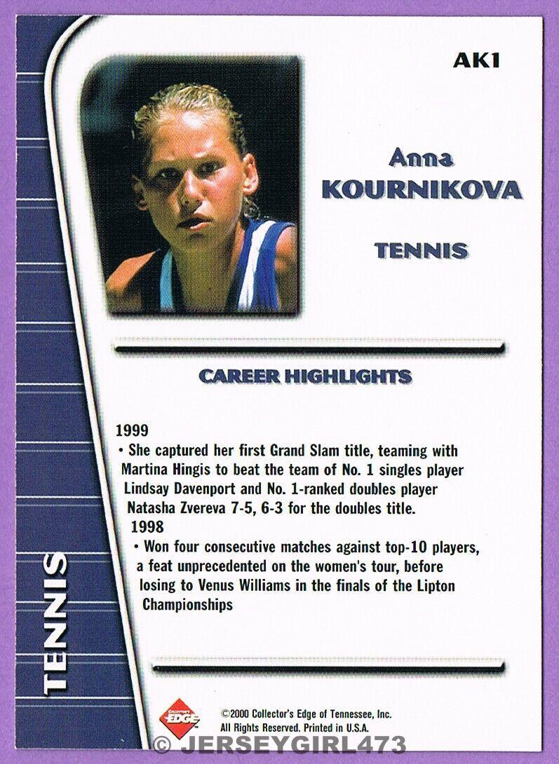 Anna Kournikova 2000 Collector's Edge Tennis Rookie Card #AK1