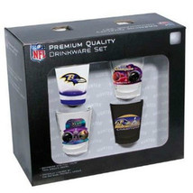 BALTIMORE RAVENS fallsale 2012-2013 NFL Super Bowl XLVII Champs 4 Shot G... - $38.47