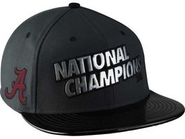 Official BCS 2013 Alabama Crimson Tide Nike Champions LR Snap-back Hat Cap Mens - £21.33 GBP