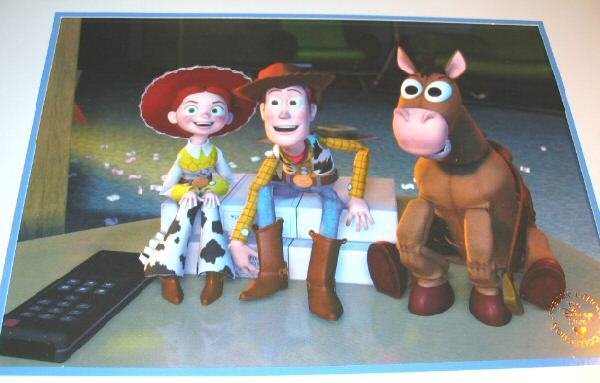 2000 Disney Toy Story 2 Commemorative Lithograph Framed