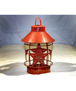 Country Red Tin Star Candle Jar Lamp - $16.98