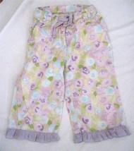 Girl's Size 4T  N-Kids Print Capri Crop Pants Pastel Print Ruffle Hem Co... - $6.75