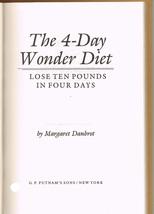 The 4-Day Wonder Diet Book - $6.99