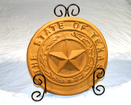"Cast Iron ""Texas"" State Seal Plaque - $14.95"