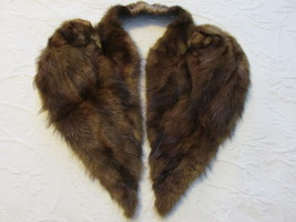 Vintage Genuine Fur Draped Collar Accessory - Early 1940s - $15.00