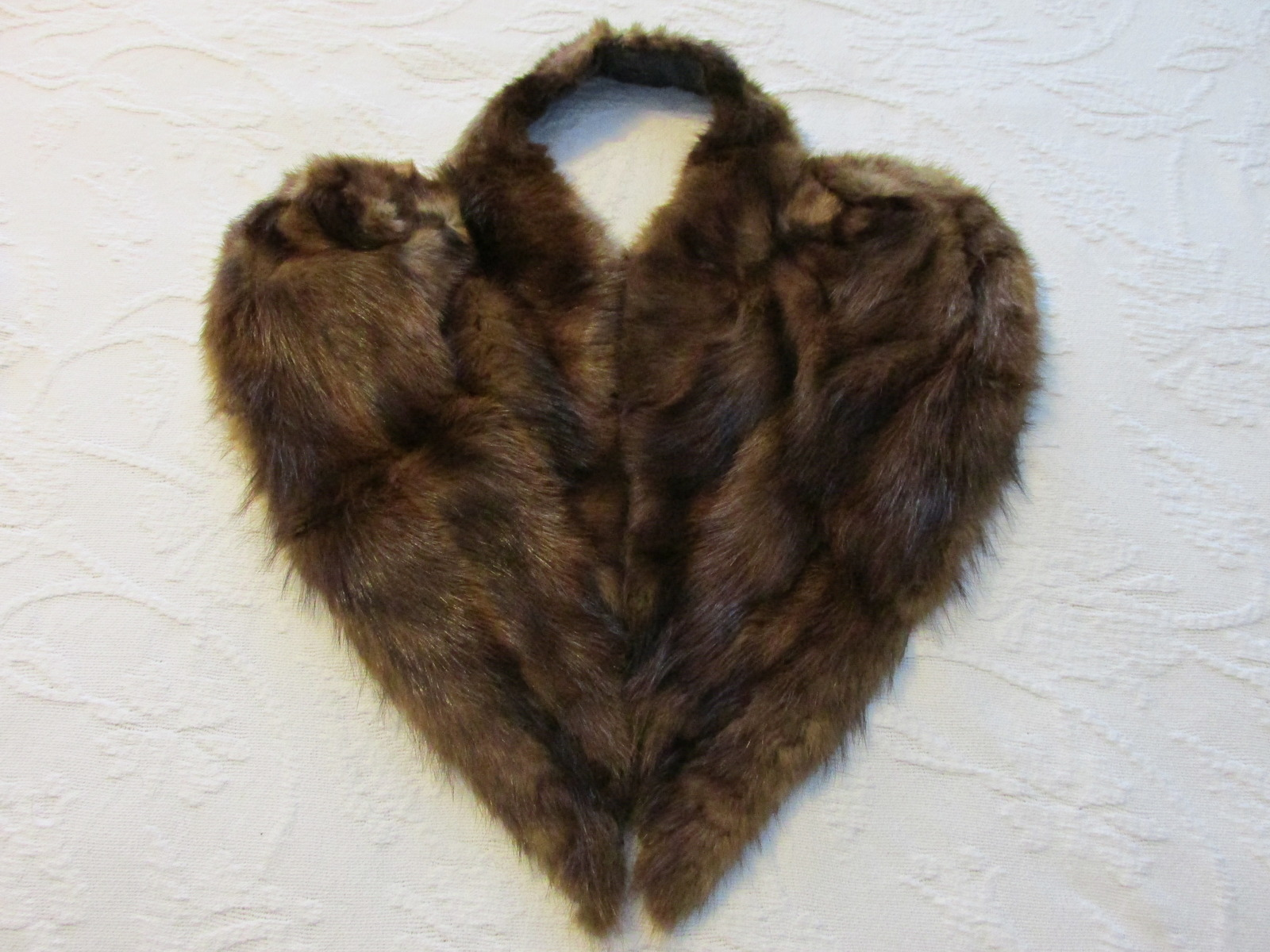 Vintage Genuine Fur Draped Collar Accessory - Early 1940s