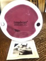 Longaberger Pottery Paprika Pillar Candle Holder NIB # 31454 - $14.85