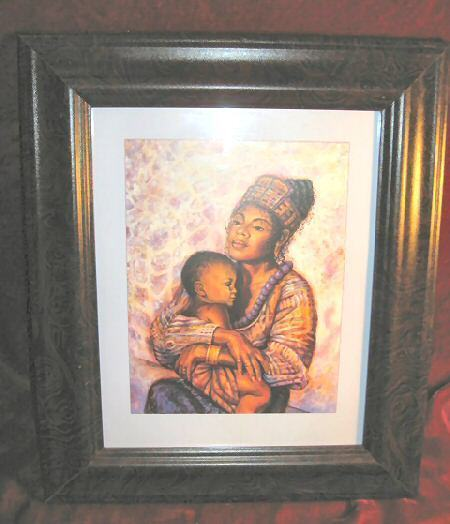 Framed Print Mother Holding Baby African Art Family Love