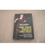 One Knee Equals Two Feet  by John Madden Dave Anderson HCwDJ 1st  Villar... - $5.75