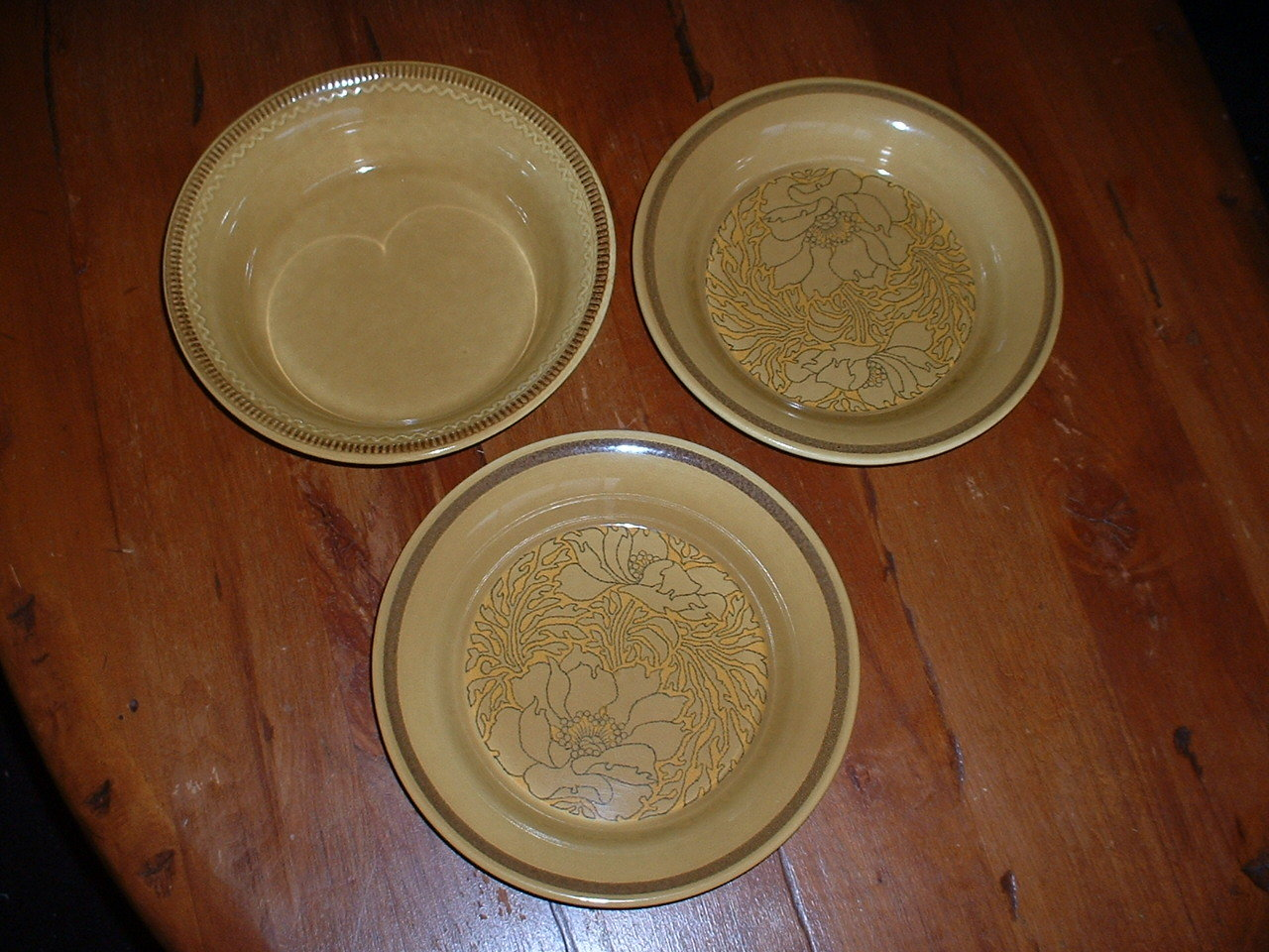 (3) Vintage FRANCISCAN bowls; 1970's  Made in USA