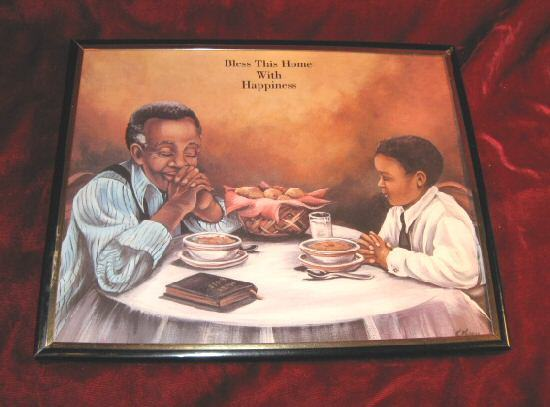2 Nice Framed  Praying Blessing Love Art Print African