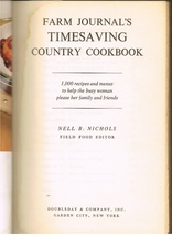 Vintage Farm Journal's Timesaving Country Cookbook - $6.99