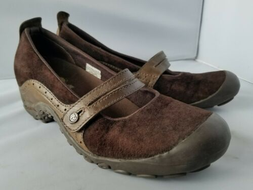 Merrell Performance Plaza Bandeau Chocolate Brown Mary Janes Ortholite Shoes 8