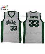 earvin johnson jersey state college stitched green white throwback basketball jerseys thumbtall
