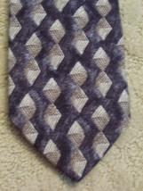 Joseph Abboud Designer Men's Neck Tie Silk  Made in Italy Black Tan Grey - $3.99