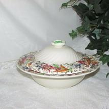 Royal Doulton Tintern Round Covered Vegetable Serving Bowl & Lid d5609 Vintage - $41.99