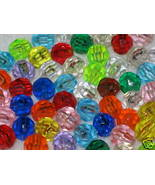 8mm Faceted Plastic Beads - 100 pcs. Assorted C... - $1.00