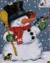 Snowman Christmas Cross Stitch Kit Blue Birds Cardinal - $19.00