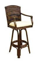 Bamboo Tiki Bar Stools Hospitality Rattan Polynesian Swivel Covered Pati... - $289.00