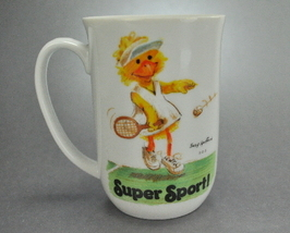 1976 Suzy Spafford Zoo Super Sport Tennis Coffee Mug Cup - $6.75