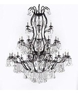 """Large Foyer Iron Chandelier Chandeliers Lighting With Crystal! H60"""" x W52"""" - $978.29"""