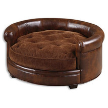 Uttermost Lucky Pet Bed w/ Russet Brown Cushion - $433.40