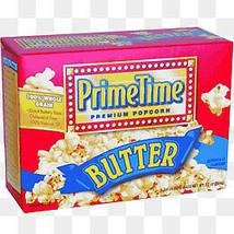 PRIME TIME PREMIUM POPCORN BUTTER - 2 Boxes----Each  Box Is 1 X(0.408LB) - $4.25