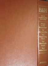 ZANE GRAY Five Complete Novels Deluxe Leatherette Book by Avenal  1980 - $5.00