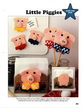Plastic Canvas Patterns - Little Piggies & Patio Coasters - Just For Fun - $1.97
