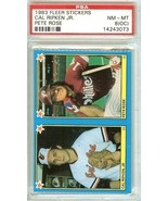 1983 fleer stickers panel cal ripken jr pete rose psa 8 oc orioles phill... - $69.99