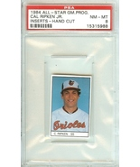 1984 all star game program insert cal ripken jr psa 8 hand cut orioles b... - $49.99