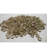 Spacer Beads 8mm Silver Tone Clear Rhinestone L... - $3.50